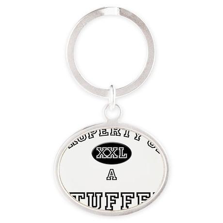 3-Stuffer146 Oval Keychain