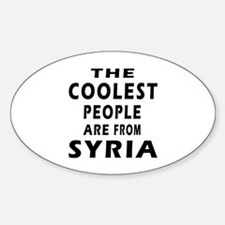 The Coolest Syria Designs Sticker (Oval)