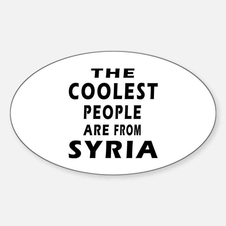 The Coolest Syria Designs Sticker (Oval 50 pk)