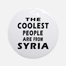 The Coolest Syria Designs Ornament (Round)