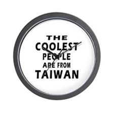 The Coolest Taiwan Designs Wall Clock