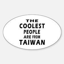 The Coolest Taiwan Designs Sticker (Oval)