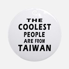 The Coolest Taiwan Designs Ornament (Round)