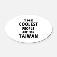 The Coolest Taiwan Designs Oval Car Magnet
