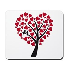 Red heart tree with love birds for wedding Mousepa
