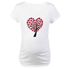 Red heart tree with love birds for wedding Materni