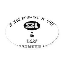 Law-Enforcement-Agen16 Oval Car Magnet