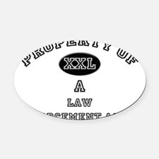 Law-Enforcement-Agen16 Oval Car Magnet