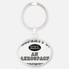 Aerospace-Engineer9 Oval Keychain