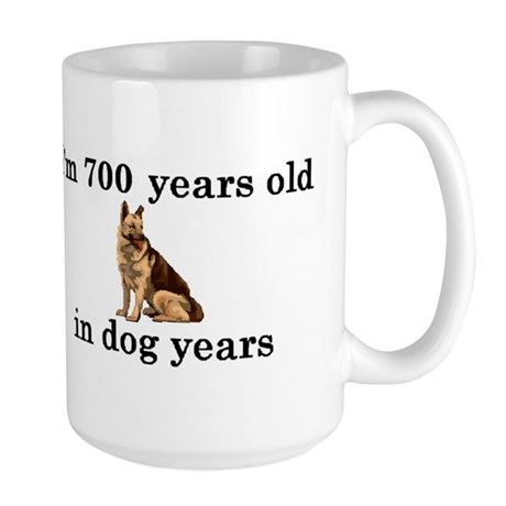 100 birthday dog years german shepherd 2 Mug