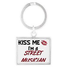 STREET-MUSICIAN132 Landscape Keychain