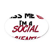 SOCIAL-SCIENTIST37 Oval Car Magnet