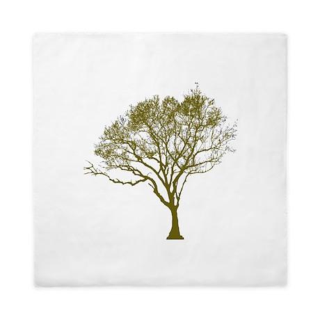Green Tree Queen Duvet
