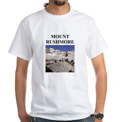 mount rushmore gifts and t-sh White T-Shirt