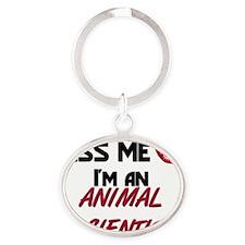 ANIMAL-SCIENTIST100 Oval Keychain