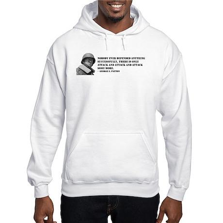 Patton Quote - Attack Hooded Sweatshirt