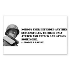 Patton Quote - Attack Rectangle Decal