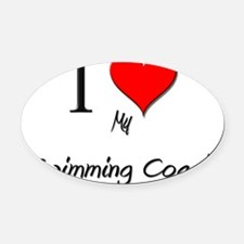 Swimming-Coach109 Oval Car Magnet