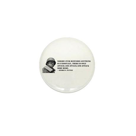 Patton Quote - Attack Mini Button (100 pack)