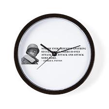 Patton Quote - Attack Wall Clock