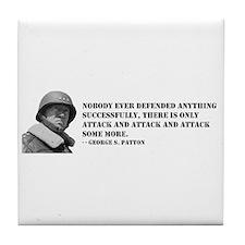 Patton Quote - Attack Tile Coaster