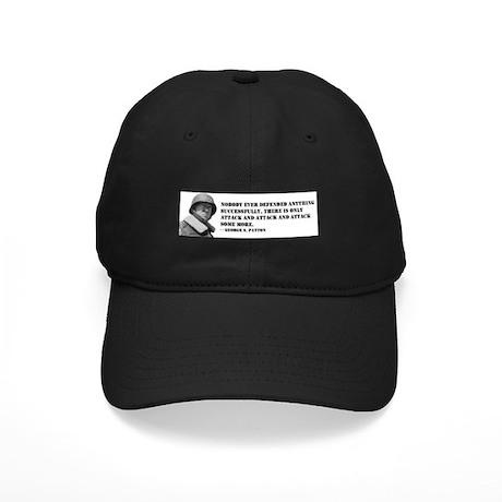 Patton Quote - Attack Black Cap