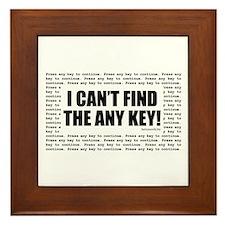Press Any Key Framed Tile