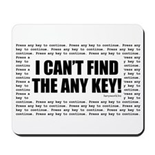 Press Any Key Mousepad