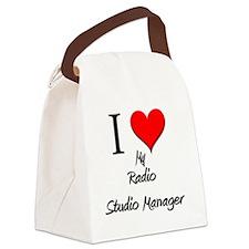 Radio-Studio-Manager30 Canvas Lunch Bag