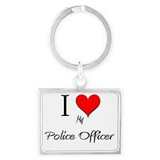 Police-Officer148 Landscape Keychain