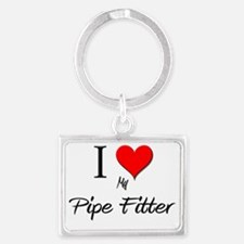 Pipe-Fitter19 Landscape Keychain