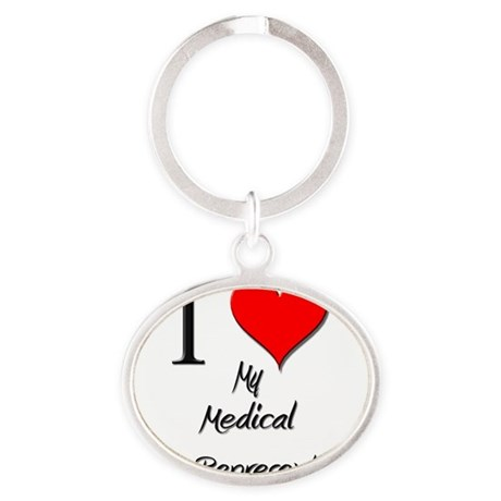 Medical-Sales-Repres142 Oval Keychain