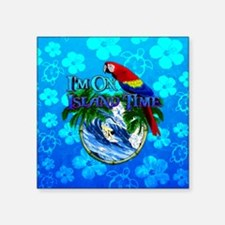 Island Time Surfer Honu Sticker