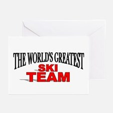 """""""The World's Greatest Ski Team"""" Greeting Cards (Pa"""