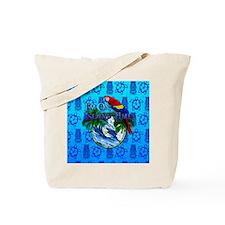 Island Time Surfer Tiki Tote Bag