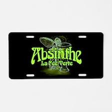 Absinthe Fairy Dark Aluminum License Plate