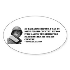 Patton Quote - Die Oval Decal