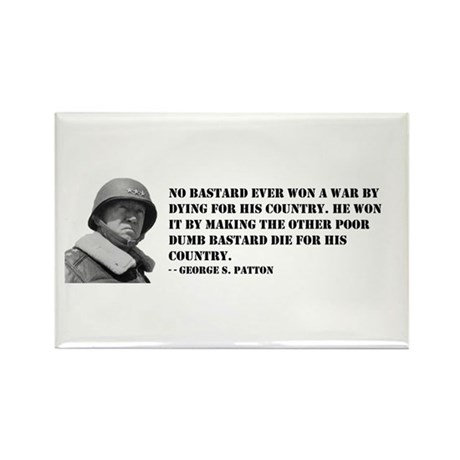Patton Quote - Die Rectangle Magnet (10 pack)