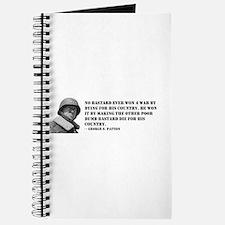 Patton Quote - Die Journal