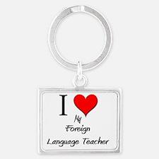 Foreign-Language-Tea78 Landscape Keychain