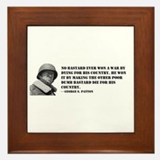 Patton Quote - Die Framed Tile