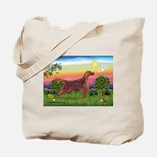 Irish Setter in Bright Countr Tote Bag