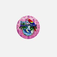 Island Time Surfer Tiki Mini Button