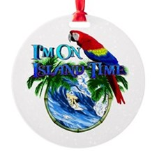 Island Time Parrot Ornament