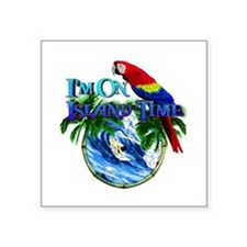 Island Time Parrot Sticker