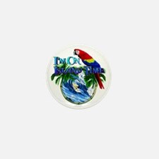 Island Time Parrot Mini Button (10 pack)