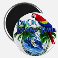 """Island Time Parrot 2.25"""" Magnet (10 pack)"""