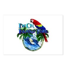 Island Time Parrot Postcards (Package of 8)