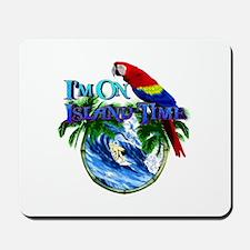 Island Time Parrot Mousepad