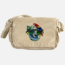 Island Time Parrot Messenger Bag